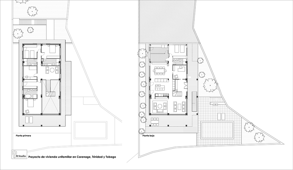 b-estudio proyecto casa Carenage plano